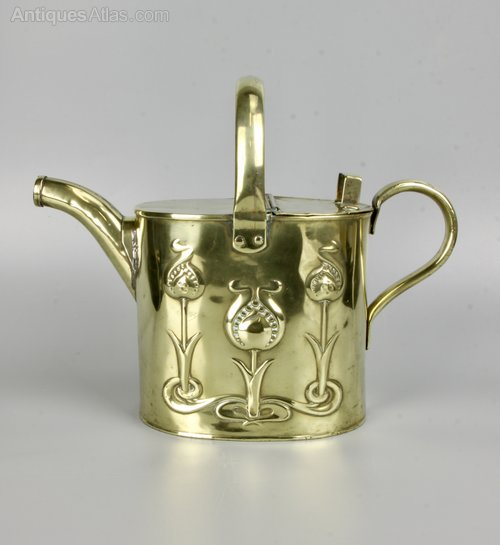 Joseph Sankey Art Nouveau Brass Watering Can c1910