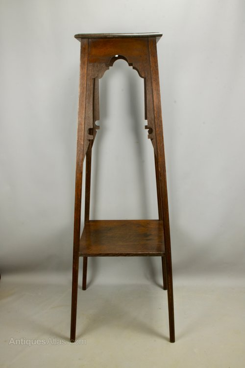 Large Liberty Arts & Crafts Torchere Plant Stand