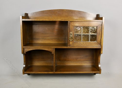 Liberty Arts & Crafts Wall Shelf Cabinet c1890