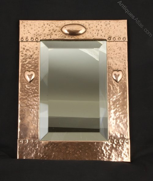 Liberty and Co Arts and Crafts Copper Mirror c1900