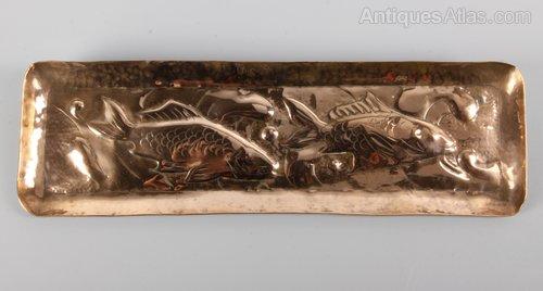 Newlyn Copper Arts & Crafts Fish Pen Tray