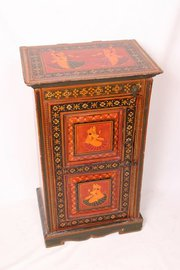 Period Indian Painted Bedside