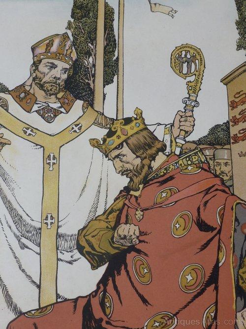Russell Flint Arts & Crafts Medici Print King John