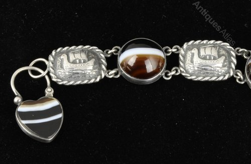 Scottish Iona Arts Crafts Cairngorm Bracelet