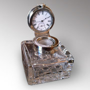 Edwardian Inkwell with Pocket