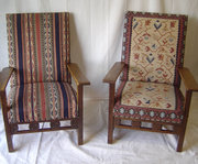 Pair of 1920s Oak Armchairs