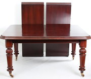 Large mahogany extending dinin