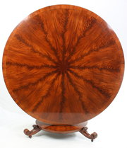 Large round mahogany breakfast