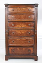 Tall slim pollard oak chest of