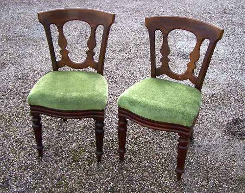 A set of 6 (or 12) 19thC Mahogany dining chairs.