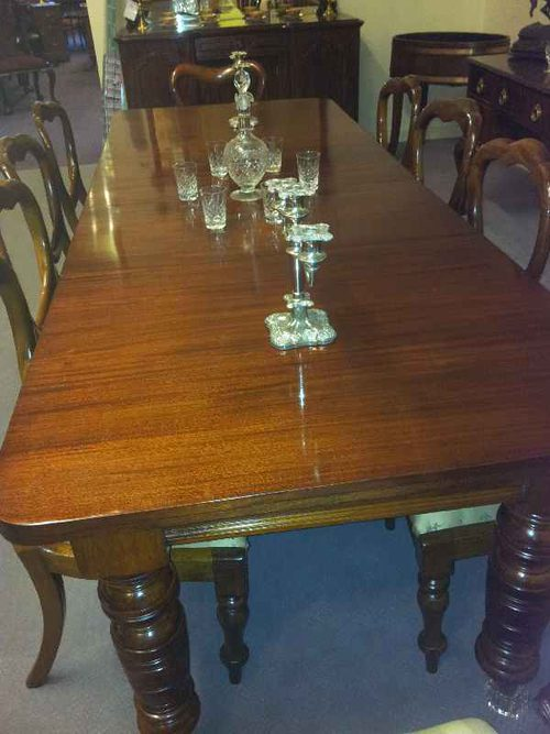 Mahogany 10 seater dining table antiques atlas for 10 seater dining table uk
