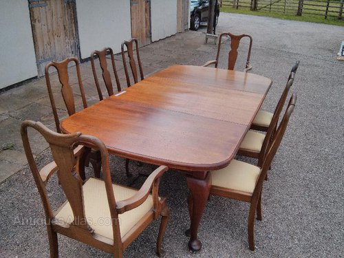 Oval ended mahogany dining table 8 10 seater antiques atlas for 10 seater dining table uk