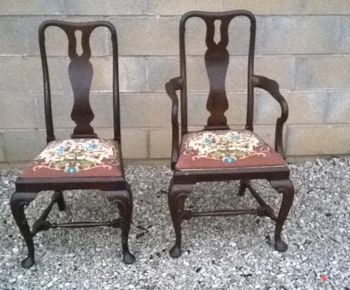 Set Of Six Mahogany Dining Chairs Antiques Atlas