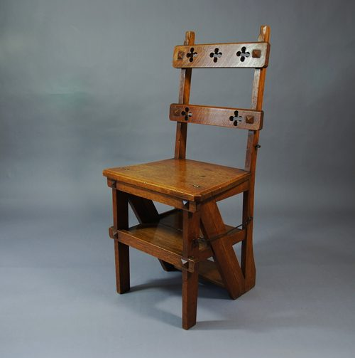 Antique Oak Arts Amp Crafts Dining Chairs Chair Pads