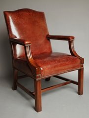 Mid 20thc worn leather Gainsbo