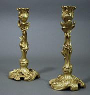Pair of late 19thc ormolu cand