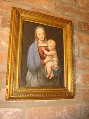 Madonna & Child 19th Century Watercolour Painting