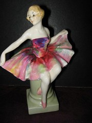 A Royal Doulton Columbine figu