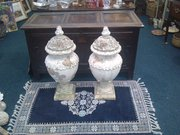 A pair of Italian garden urns