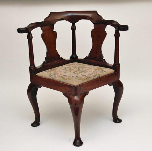 walnut corner chair antiques atlas