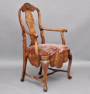 Walnut marquetry chair
