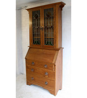 A Large Arts  Crafts Oak Burea