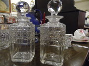 Pair of Heavy Cut Victorian Wh