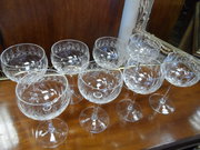 Set of eight edwardian Champag