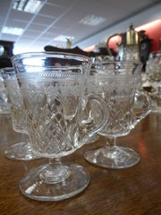 Set of four Glass Acid etched