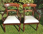 Mahogany carver chairs