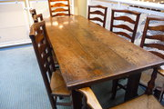 Antique 18thc oak farmhouse ta