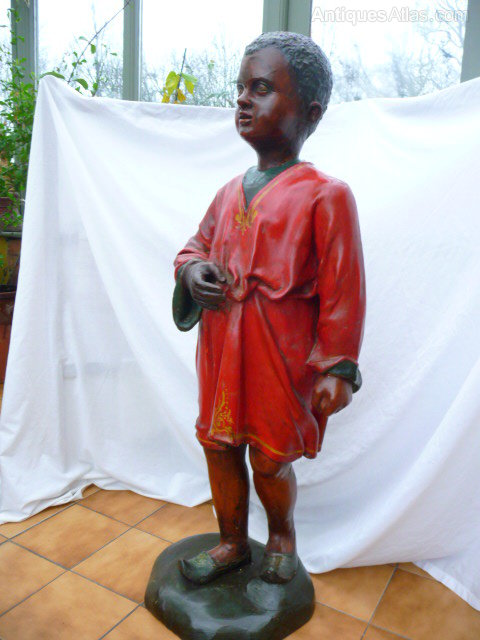 Large Advertising Black Boy figure c1900