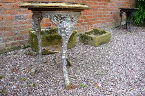 Antique Cast iron pub table c1900 £95