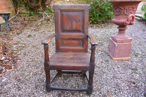 Antique Scottish Wainscot  Armchair c1680