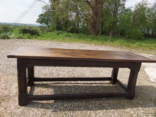 Antique large oak kitchen table c1800
