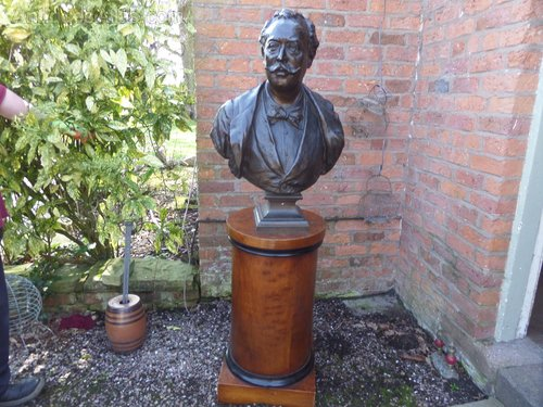Massive 19thc French Bronze Bust and stand c1890
