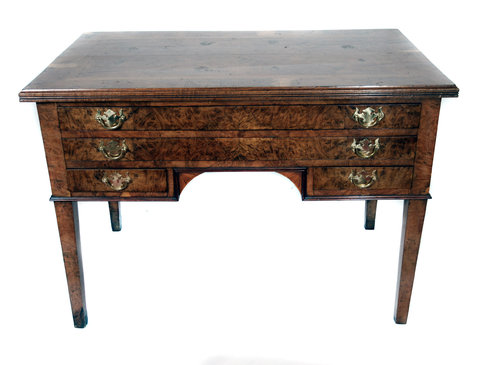 Superb Antique Burr Elm Writing Table