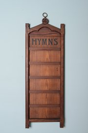 19th Century Antique Pine Hymn