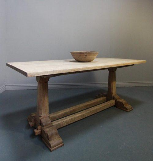 Bleached Oak Antique Refectory Dining Table Antiques Atlas