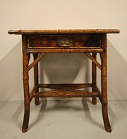 English Antique Bamboo DeskSid