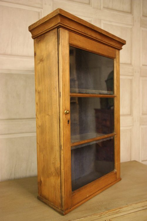 Georgian antique pine wine glass wall cabinet antiques atlas - Antique bathroom wall cabinets ...