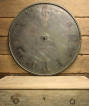 Huge Antique Copper Clock Face