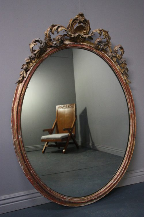 Antiques Atlas Huge Regency Antique Gilt Oval Mirror