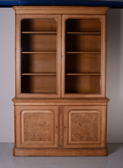 Superb Quality Antique Burr Oak Bookcase Antiques Atlas