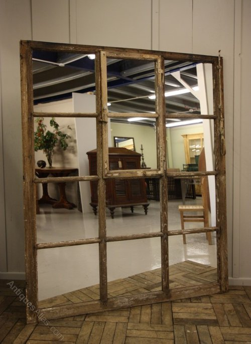 Antiques Atlas Unusual Antique Oak Window Mirror