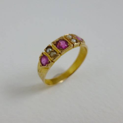 antiques atlas ruby and pearl ring 1887