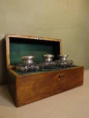 19th C Rosewood Dressing Box