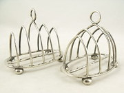 Pair of Silver Toast Racks