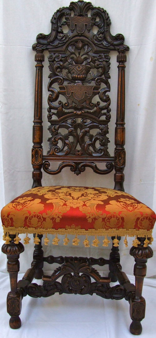 Carved Walnut Side Chair In 17th Century Style Antiques