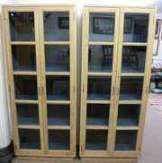 Two Oak Bookcases